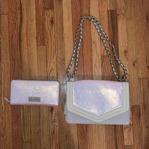 Sam Edelman matching Holographic wallet and purse